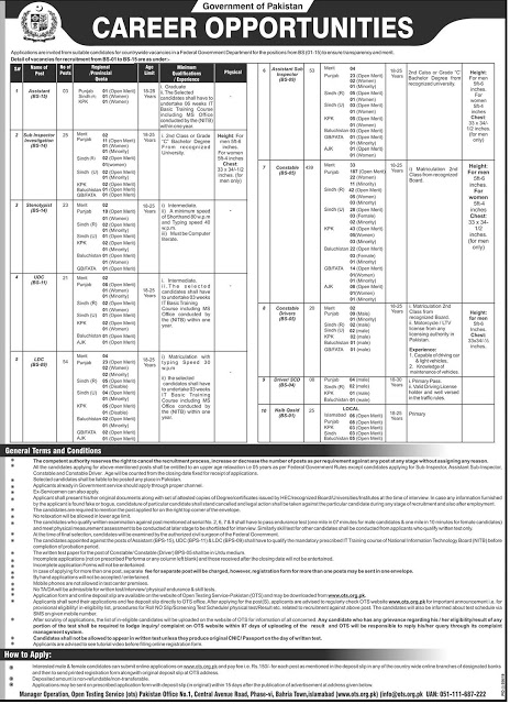 FIA Jobs August 2019 For Constables, ASI, Sub Inspectors - Latest Jobs