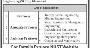 NUST Jobs 2019 For Teaching - National University of Science & Technology