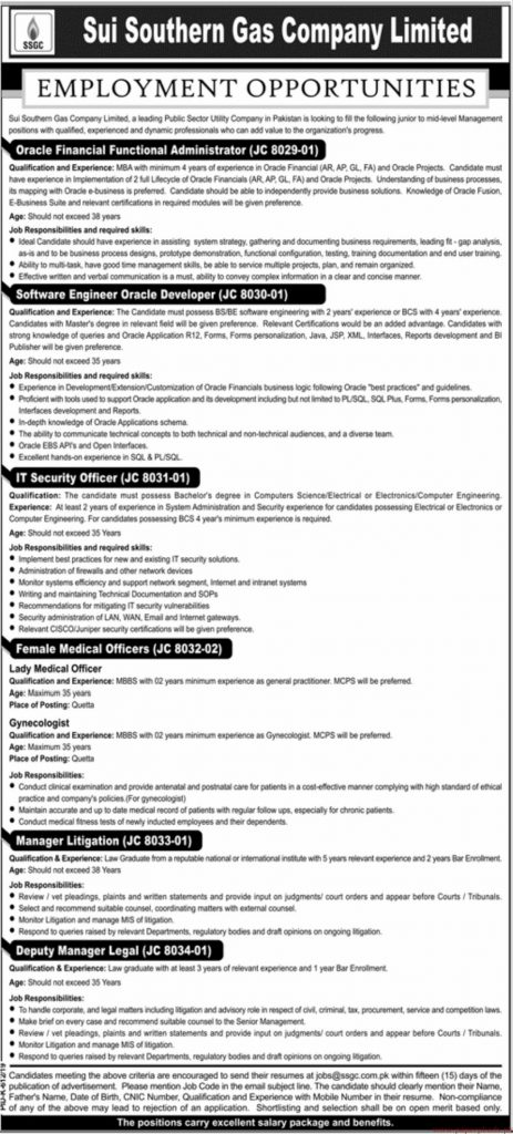 SSGC Jobs 2019 | Sui Southern Gas Company Jobs by www.ssgc.com.pk