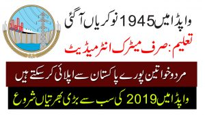 FESCO Jobs August 2019 (1945 positions) Faisalabad Electric Supply Company Jobs
