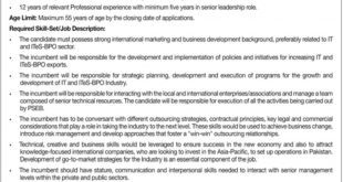 Pakistan Software Export Board PSEB Jobs 2019