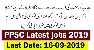 PPSC Latest Jobs September 2019 | 641+ Vacancies | Advertisement No. 28/2019