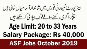 ASF jobs october 2019