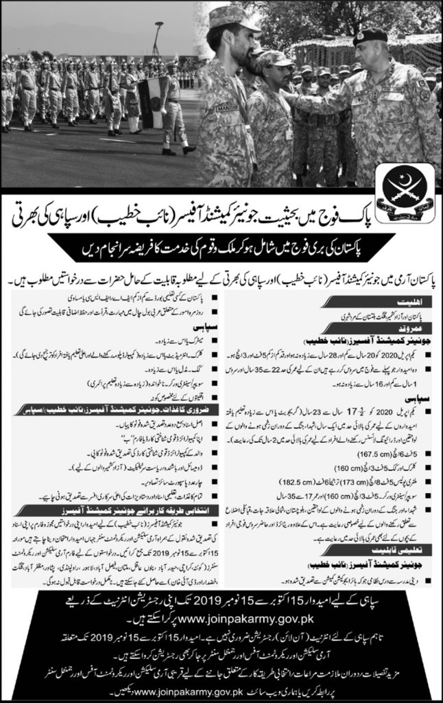 Join Army Jobs 2019