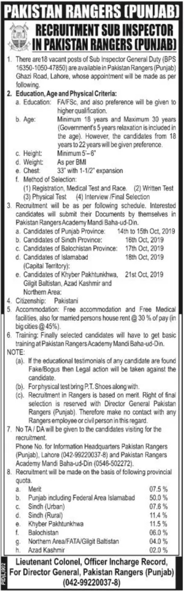 Photo of Pakistan Rangers Jobs 2019 in Punjab for Soldier Latest New Vacancies