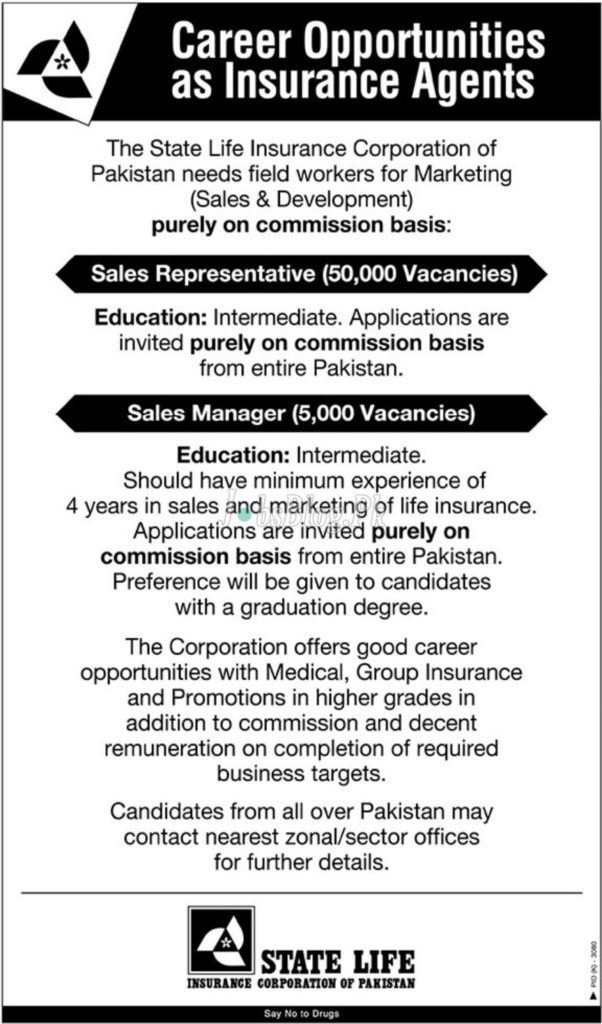 State Life Insurance Corporation Jobs 2019
