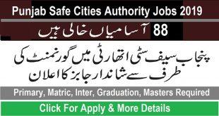 Punjab Safe City Authority Jobs 2020