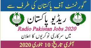 Pakistan Broadcasting Jobs 2020