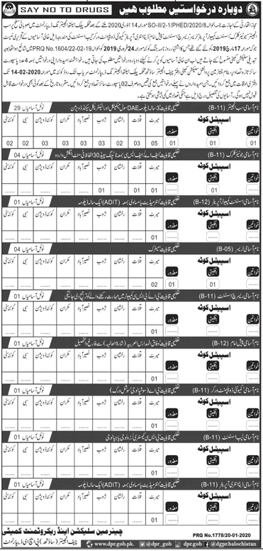 Public Health Engineering Department Jobs 2020 For Sub Engineer, Junior Clerk and others (45 Posts)