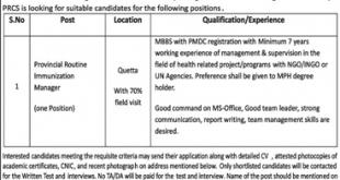 Pakistan Red Crescent Society Jobs 2020