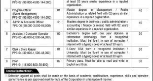 Pakistan Tourism Development Corporation Jobs 2020