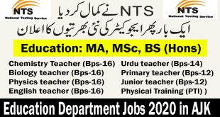 Education Department Jobs 2020