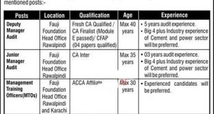 Fauji Foundation Jobs 2020