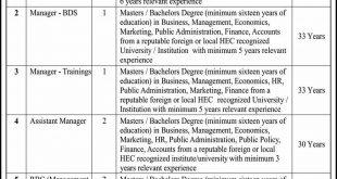 SMEBFC Multan Jobs 2020