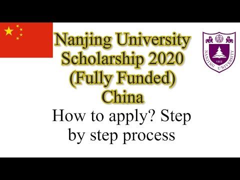 Nanjing University Scholarship 2020