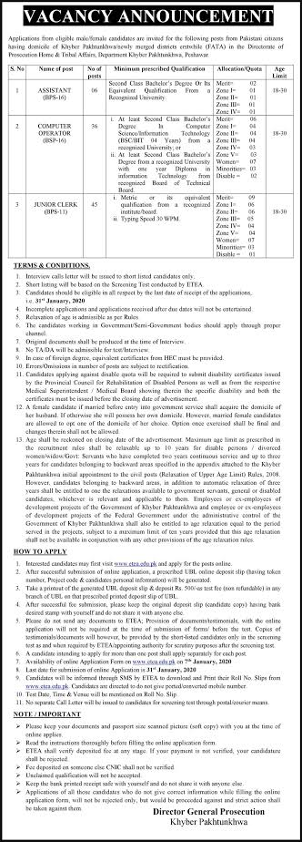 Home & Tribal Affairs Department KPK 2020
