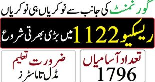 Rescue 1122 Jobs in KPK 2020