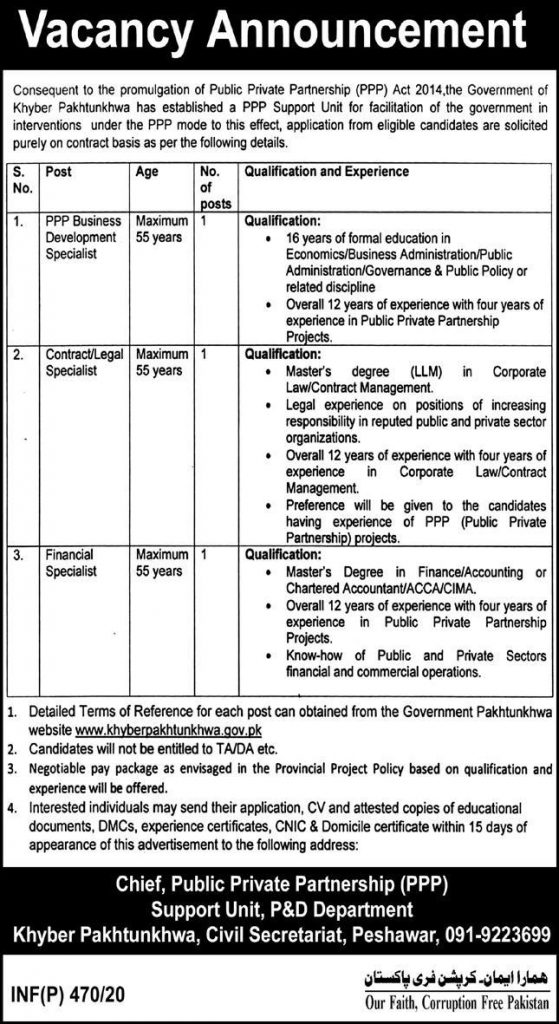 Public Private Partnership (PPP) Jobs 2020