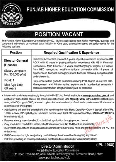 Punjab HEC Jobs 2020