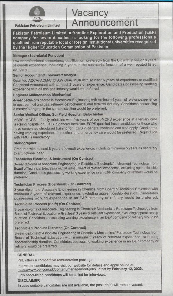 PPL Jobs 2020 for Stenographer