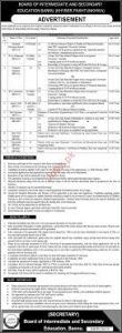 BISE Bannu Jobs 2020