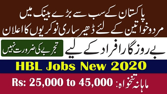 HBL Bank New Jobs 2020
