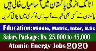 PAEC Atomic Energy Jobs 2020