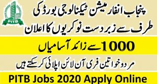 Punjab Information Technology Board Jobs 2020