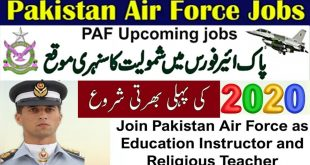 PAF Jobs February 2020