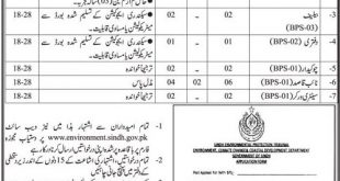 Environment, Climate Change and Coastal Development Department Sindh Jobs 2020