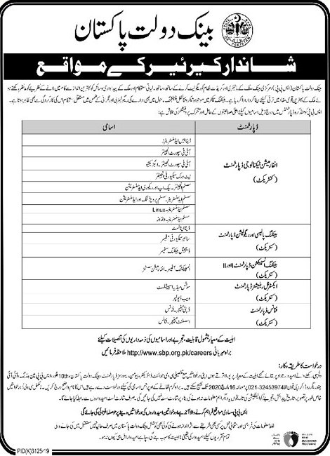 SBP Jobs March 2020