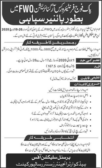 FWO Jobs March 2020