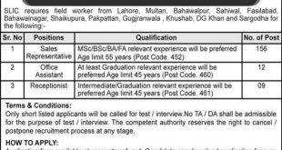 State Life Insurance Corporation of Pakistan Jobs March 2020
