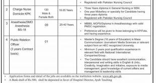 Ayub Teaching Hospital Jobs March 2020