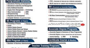 AIOU Admissions Spring 2020