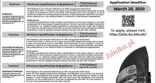 ITU Lahore Jobs 2020