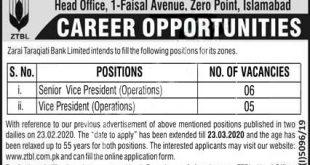 ZTBL Jobs 2020 Islamabad
