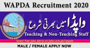WAPDA Jobs 2020 For Lecturers