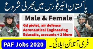 PAF GD Pilot Registration 2020