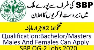 State Bank Officers Training Scheme 2020