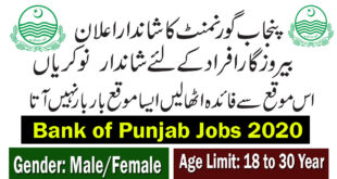 Bank of Punjab Jobs 2020