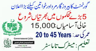 Government Jobs in Pakistan 2020