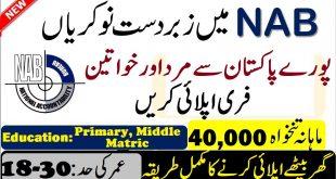 NAB Islamabad New Jobs 2020
