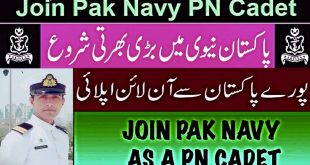 Pak Navy Jobs 2020 as PN Cadet,