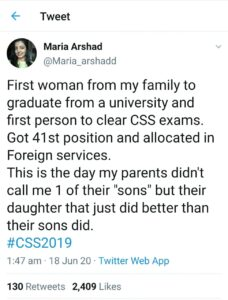 CSS Result 2019-20