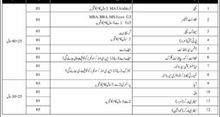 APS Jobs 2020 Rawalpindi