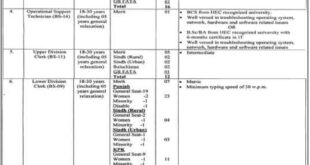 Ministry of Foreign Affairs Govt of Pakistan Jobs June 2020