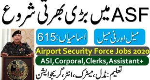 ASF Jobs July 2020