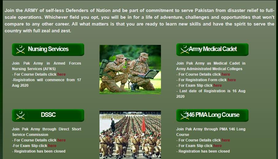 AFNS Online Registration 2020 – Join Pak Army as Nursing Service