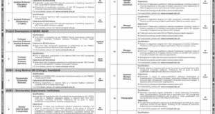 National University of Medical Sciences NUMS Jobs August 2020